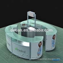 Custom design counter design reception desk exhibition booth equipment